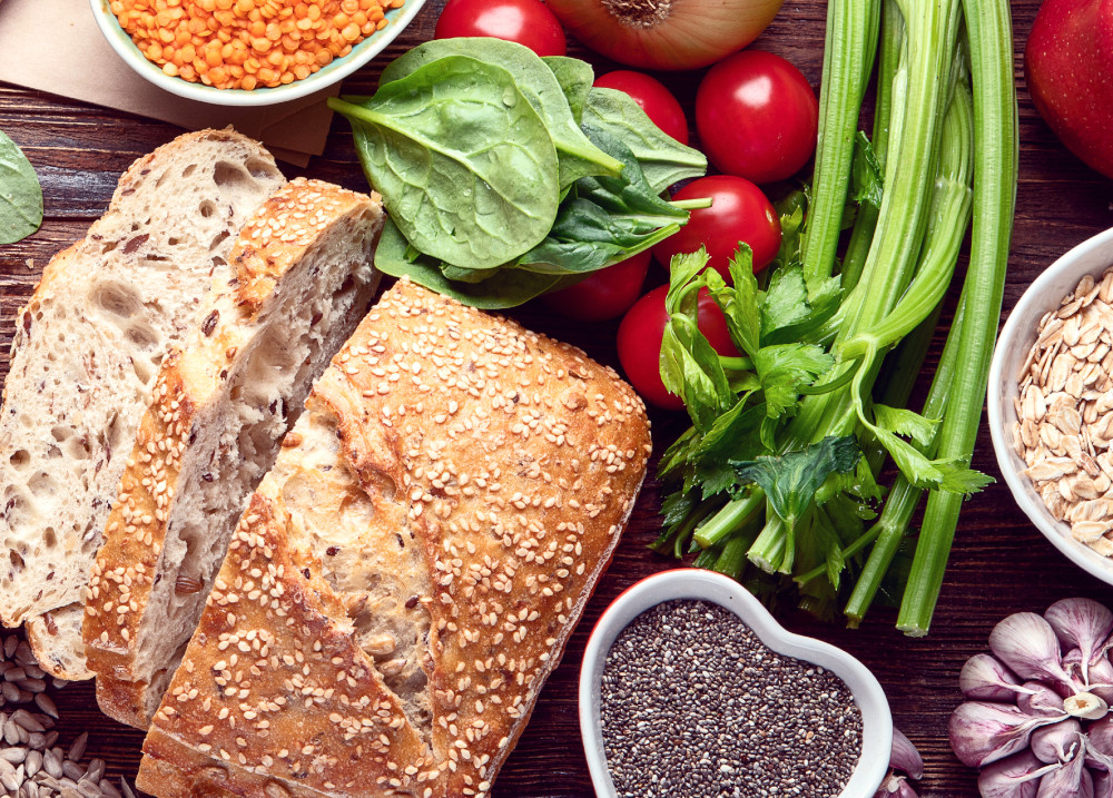 bread, cereals and legumes
